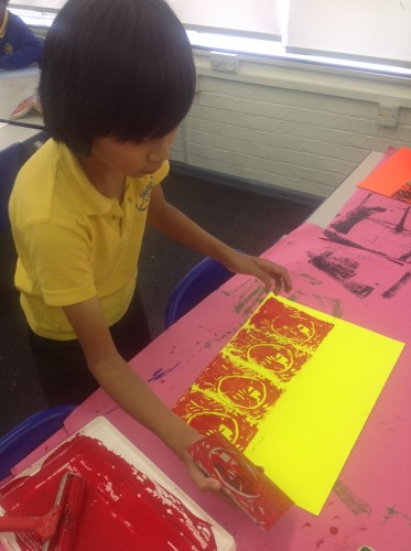Finally we printed our designs onto our background in a repeated pattern to create our African art prints.