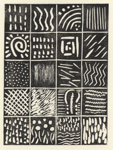 Firstly we looked at African art prints that had been created by Lino printing. We concentrated on pattern and mark making styles.